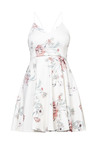 New Look White Floral Print Dress