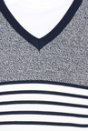 celio* Grey & White Striped Sweatshirt