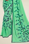 Triveni Graceful Green Faux Georgette Saree