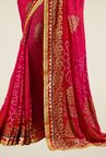 Triveni Glorious Magenta Faux Georgette Saree