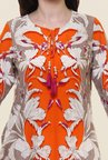 Shree Orange Floral Print Kurta