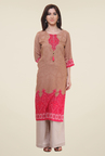 Shree Brown Printed Kurti