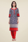 Shree Navy Printed Kurti
