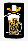 Simpsons Beer Belly Flop Champ Black Case for Samsung S5
