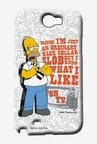 Simpsons Blue Collar Slob Case for Samsung Note 2