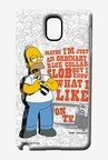 Simpsons Blue Collar Slob Case for Samsung Note 3