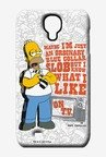 Simpsons Blue Collar Slob Case for Samsung S4