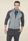 Basics Grey Solid Jacket