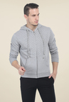 Basics Grey Printed Jacket