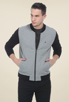 Basics Light Heather Grey Knit Jacket