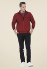 Basics Red Solid Jacket