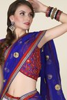 Occeanus Blue & White Embroidered Net Lehenga Set