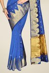 Pavecha's Blue Banarasi Silk Cotton Blend Saree