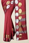 Pavecha's Rust Banarasi Cotton Silk Saree