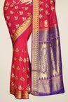 Pavecha's Red Kanjivaram Art Silk Saree