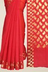 Pavecha's Red Banarasi Cotton Silk Kota Doria Saree