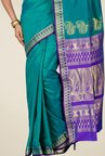 Pavecha's Teal Kanjivaram Art Silk Saree