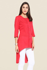 Mytri Coral Solid Kurti