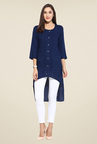 Mytri Navy Solid Kurti