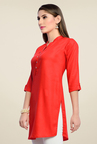 Zola Red Solid Kurti