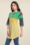 Zola Green & Yellow Printed Kurti