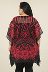 Talinum Red & Black Printed Kaftan