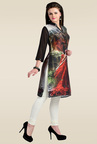 Zola Black Synthetic Kurti