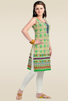 Zola Green Printed Cotton Kurti