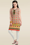 Zola Red Sleeveless Kurti