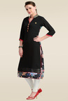 Zola Black 3/4th Sleeves Kurti