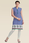 Zola Blue Sleeveless Kurti
