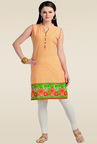 Zola Orange Printed Kurti