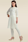 Zola Off-white Embroidered Kurti