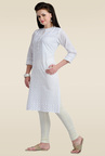 Zola White Embroidered Kurti