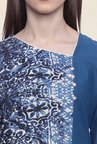 Mytri Blue Printed Cotton Kurti