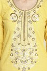 Aujjessa Yellow Embroidered Palazzo Set