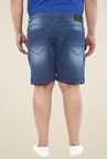 John Pride Light Blue Mid Rise Shorts