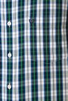 Allen Solly Green & White Slim Fit Shirt