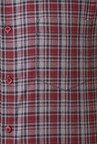 Peter England Maroon & Grey Checks Cotton Slim Fit Shirt