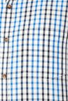 Peter England Blue Cotton Full Sleeves Checks Shirt