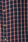 Peter England Navy Cotton Full Sleeves Checks Shirt