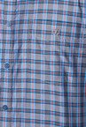 Van Heusen Grey & Red Checks Shirt
