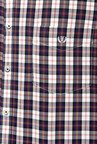 Van Heusen Navy Button Down Collar Checks Shirt
