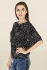 Chemistry Black Printed Top