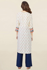 Global Desi Off White Printed Kurta