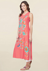 Global Desi Coral Printed Kurta