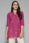 Utsa by Westside Pink Embroidered Kurti