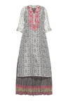 Vark by Westside Off White & Grey Embroidered Maxi Suit Set