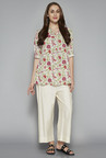 Utsa by Westside Off White Floral Print Kurti