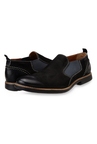 Ruosh Black Casual Slip-Ons